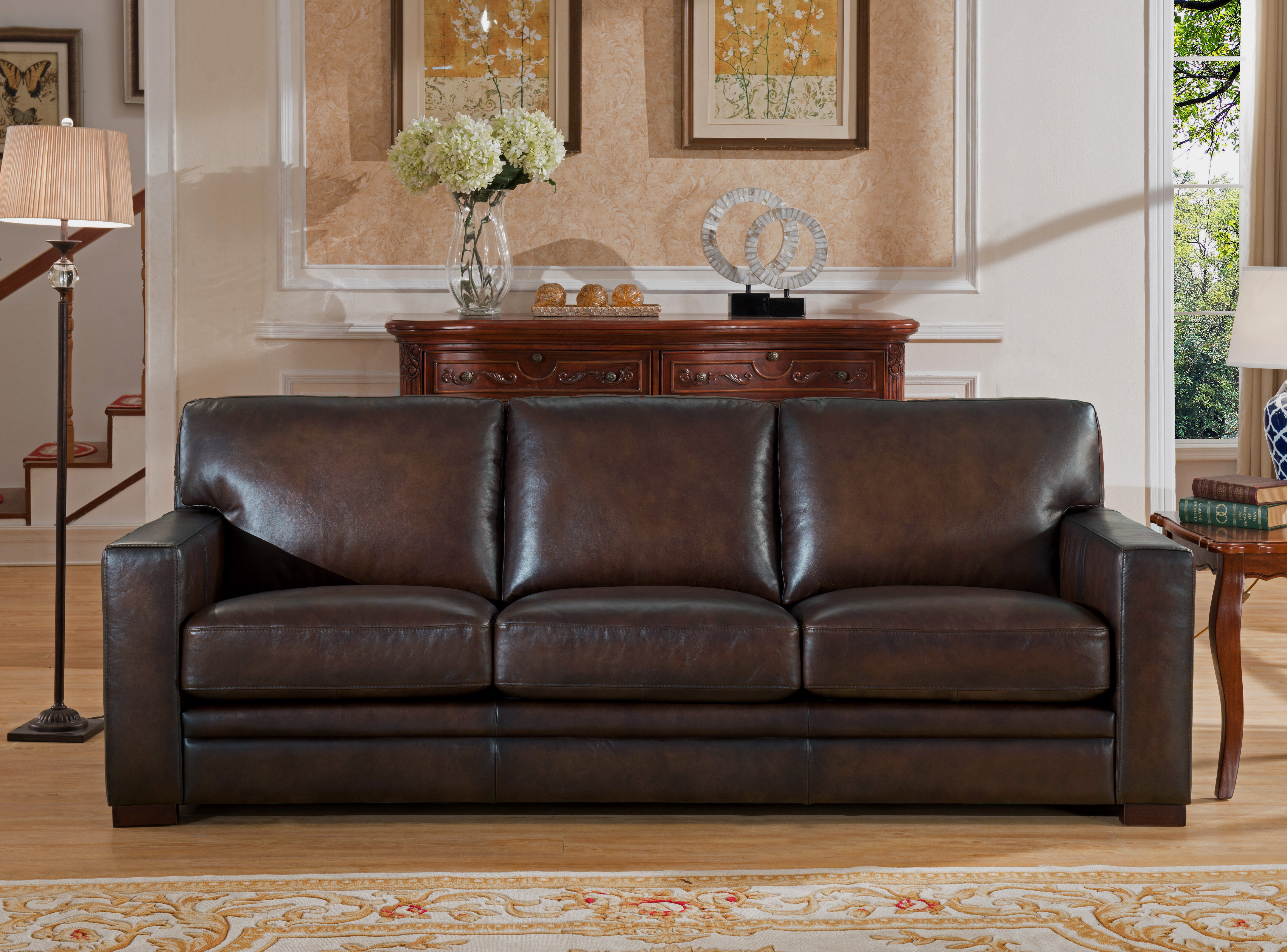 Brilliant Mcdonald Leather Sofa Theyellowbook Wood Chair Design Ideas Theyellowbookinfo