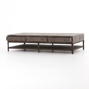 Hendrick Washed Gray Coffee Table 17 Stories