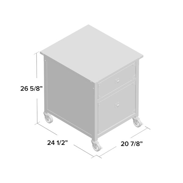 Williston Forge Rushton 2 Drawer Mobile Vertical Filing Cabinet Reviews Wayfair