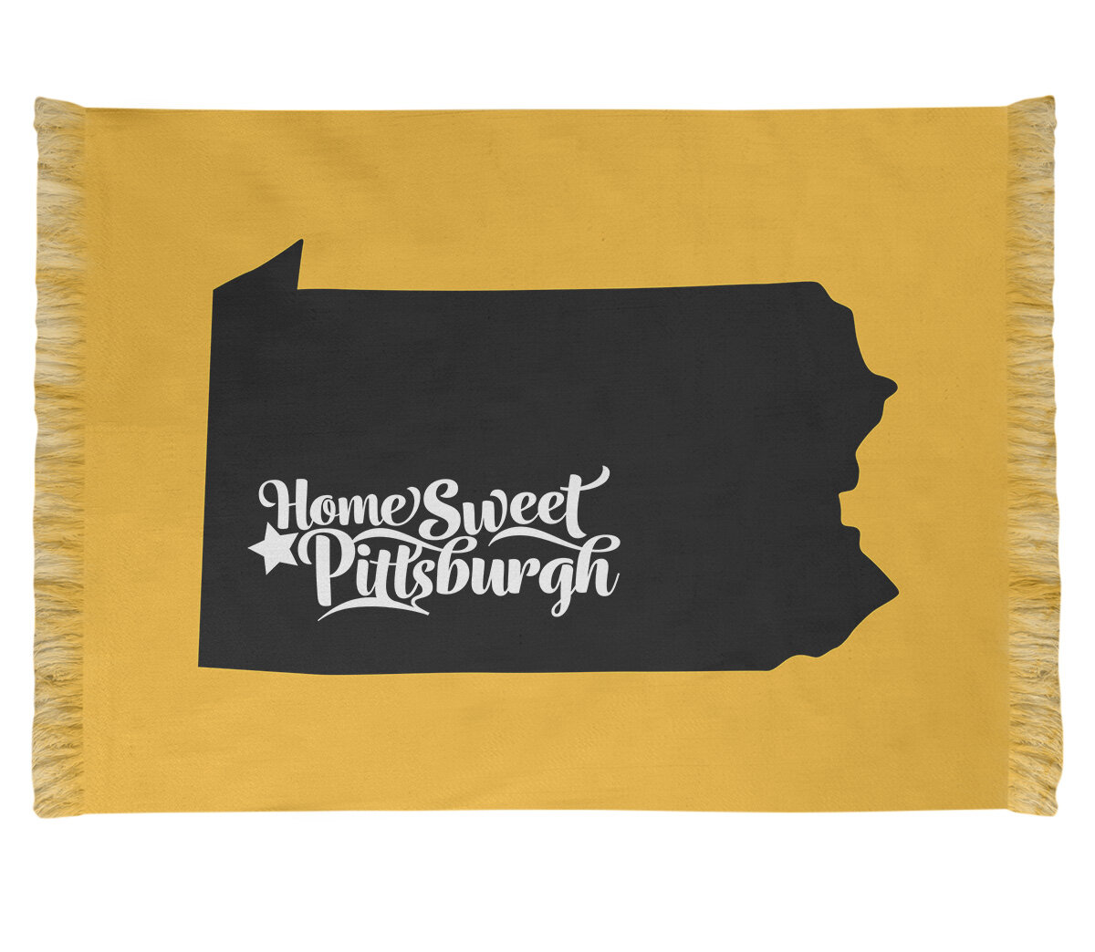 East Urban Home Pittsburgh Sports Yellow Black Area Rug Wayfair
