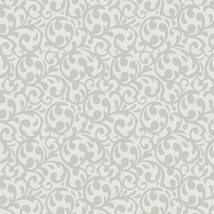 Review 32.97' x 20.8 Elegant Swirl Wallpaper by Walls Republic