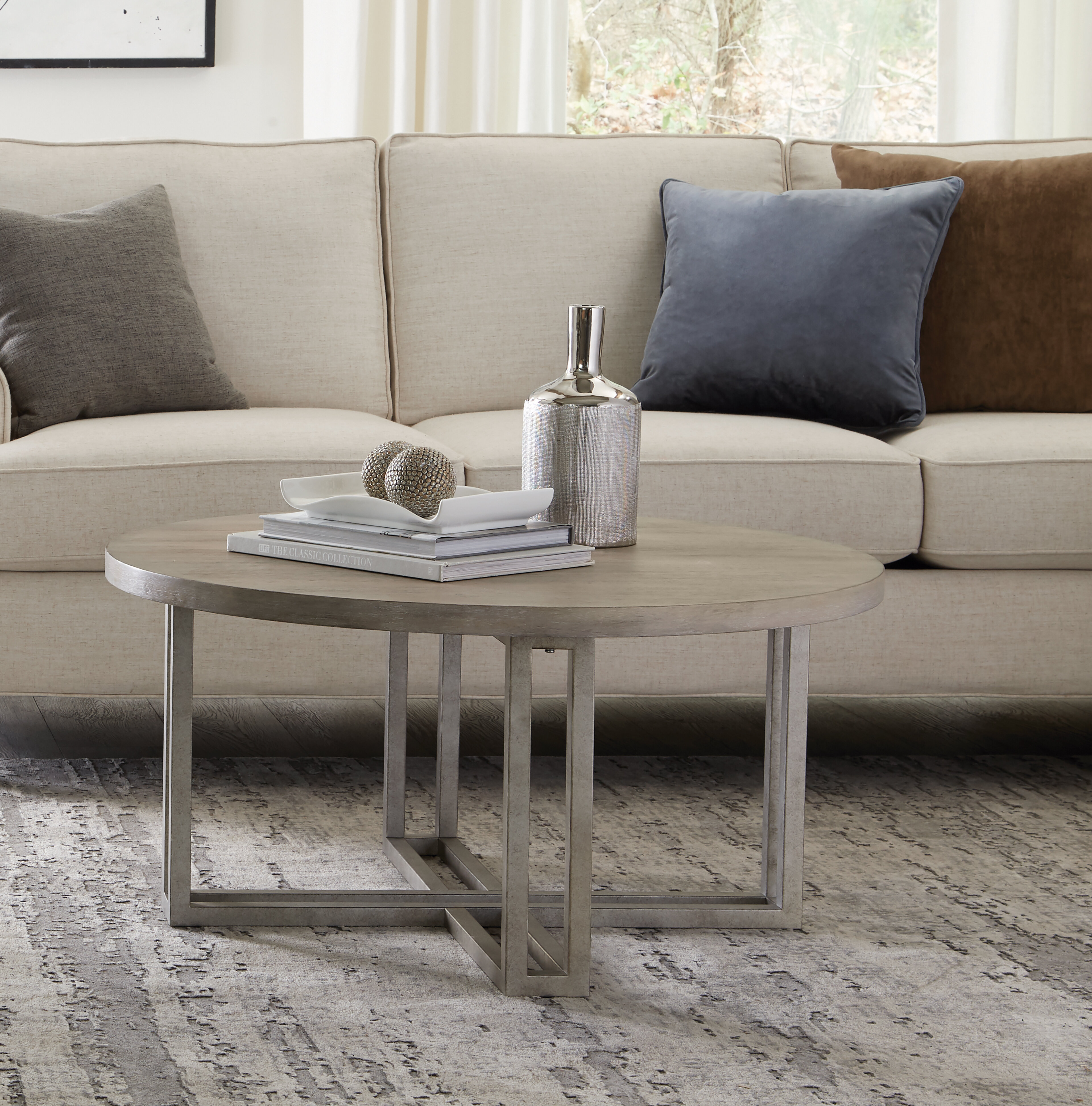 Gracie Oaks Raffles Cross Legs Coffee Table Wayfair