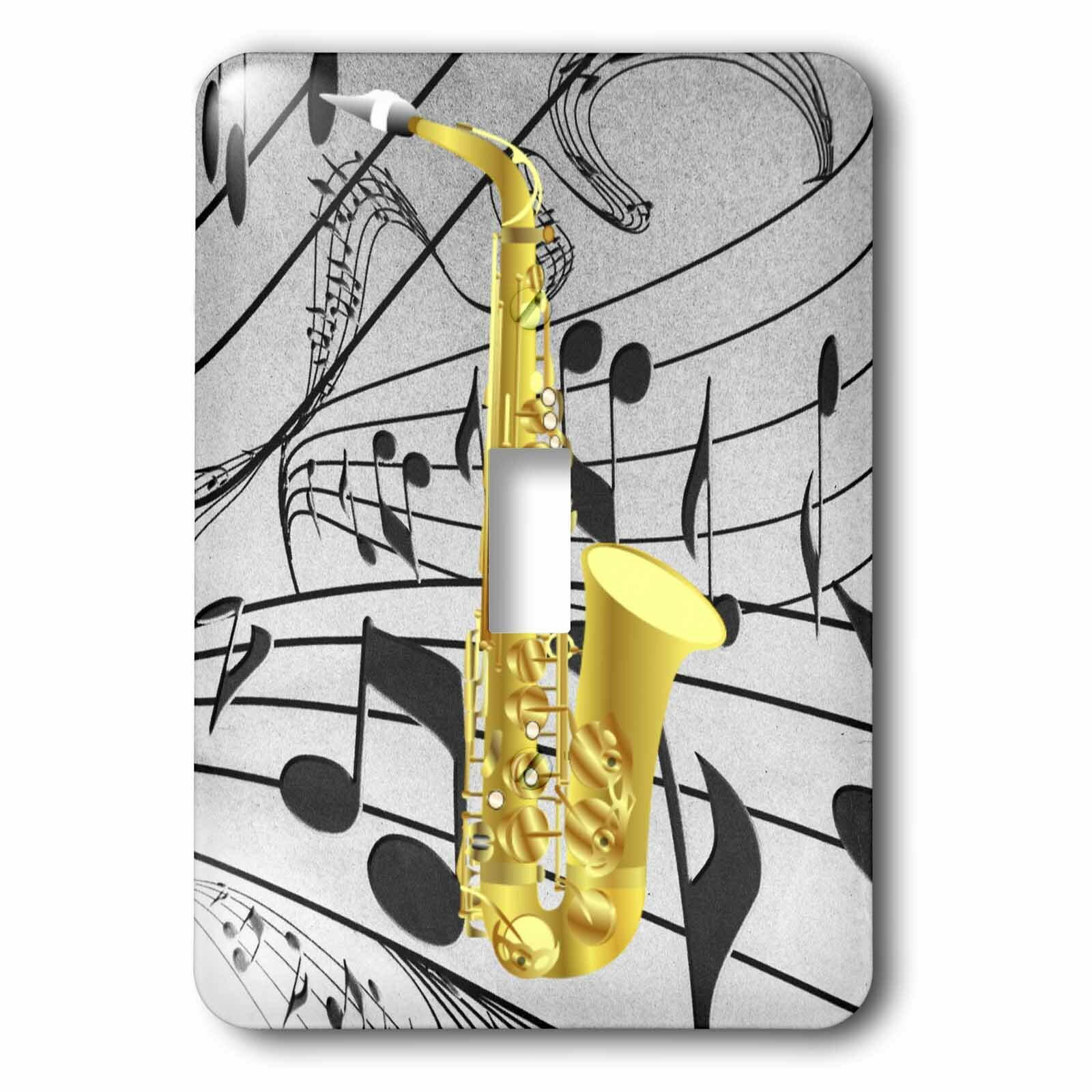 3drose Music Notes 1 Gang Toggle Light Switch Wall Plate Wayfair