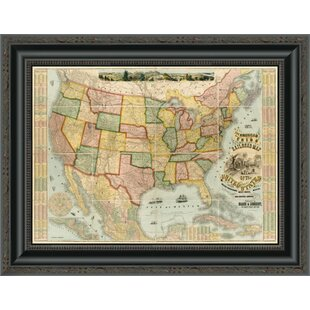 United States Map Picture Frame.Framed Map Of United States Wayfair