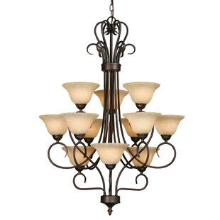 Alcott Hill Gaines 12-Light Shaded Chandelier