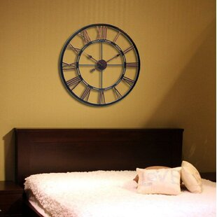 Compare prices Oversized Terrones Metal Wall Clock by August Grove