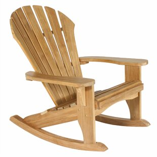 Wanda Atlantic Teak Rocking Adirondack Chair by Loon Peak
