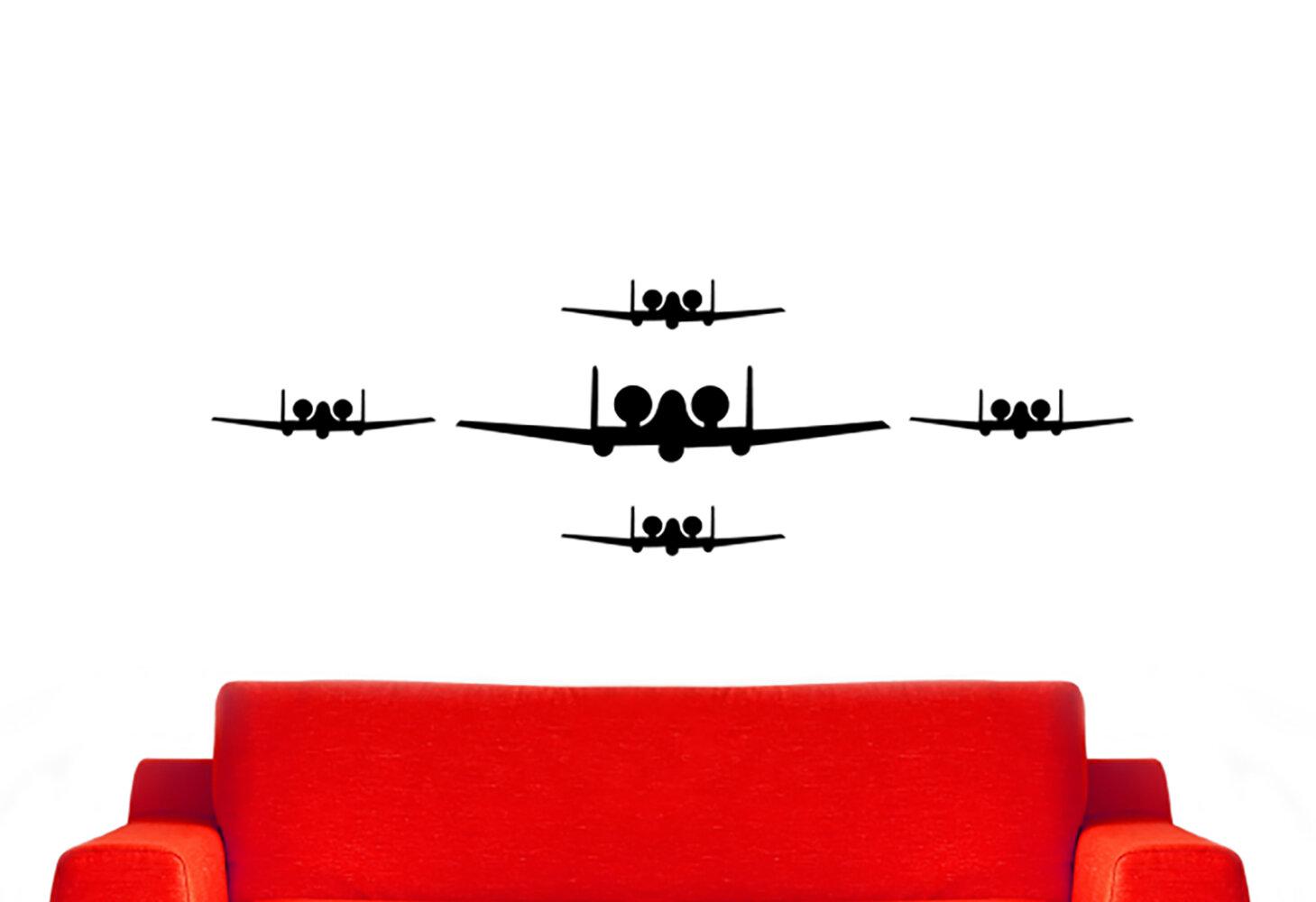 Williston Forge A 10 Warthog Fighter Jet Airplanes Silhouette Vinyl Words Wall Decal Wayfair