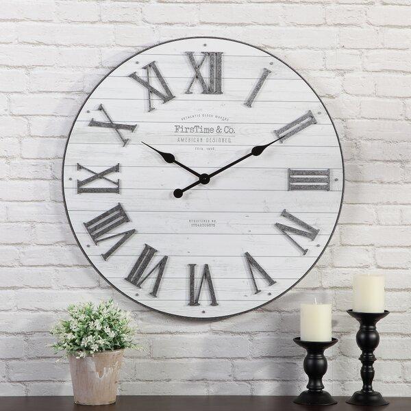 Oversized Engstrom Shiplap 27'' Wall Clock