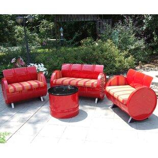 Drum Works Furniture Bravada Salsa 4 Piece Sunbrella Sofa Set Cushions