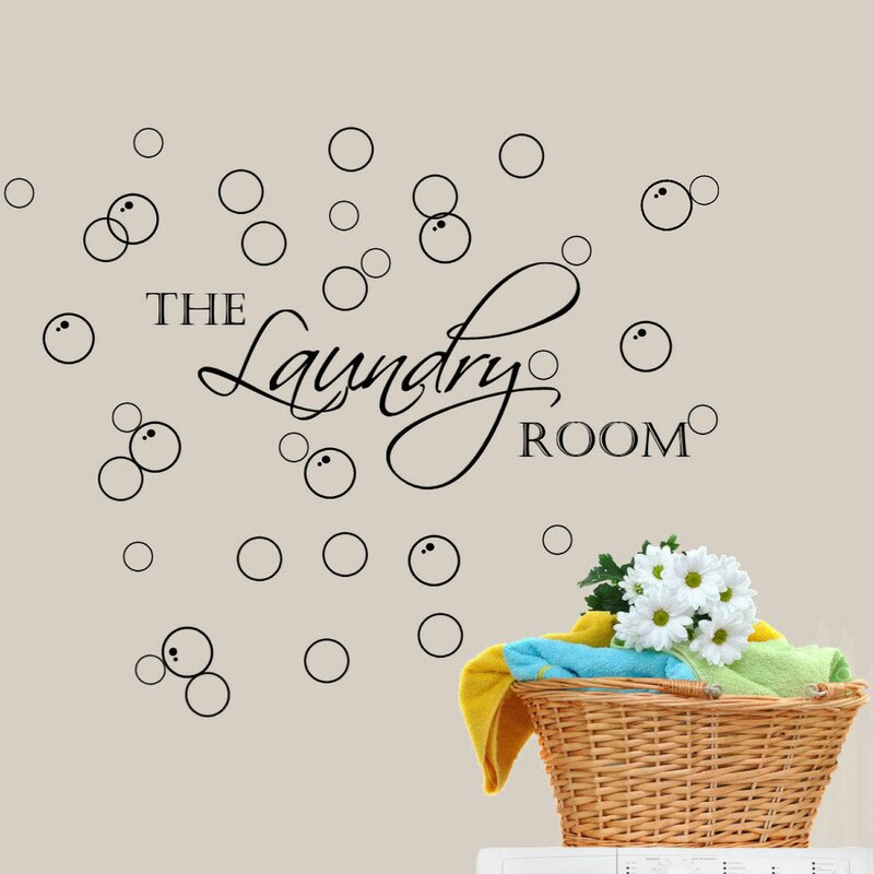 Decalthewalls Laundry Room With Bubbles Wall Decal Reviews Wayfair