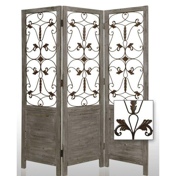 Screen Gems 72 X 60 Hampton Decorative 3 Panel Room Divider Reviews Wayfair