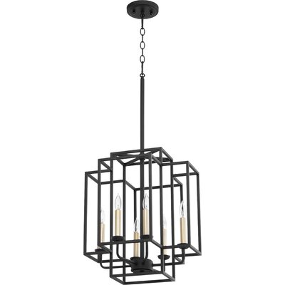 Quorum 686 4 69 Transitional Four Light Entry Pendant From Olympus Collection In Black Finish Noir Shefinds