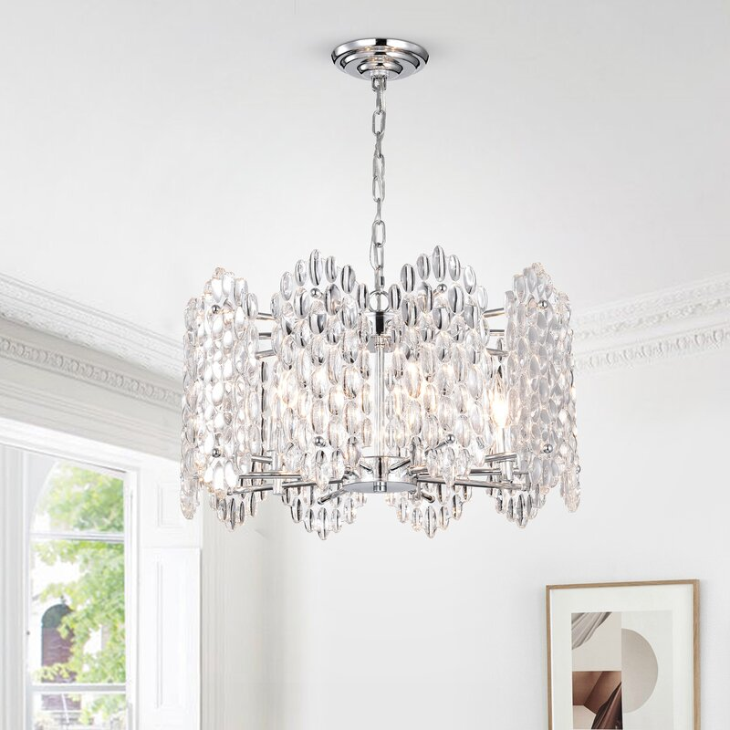 When It All Came Together At Tiedemans >> Tiedeman Pebbles 5 Light Drum Pendant