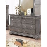 Soriano 16 Drawer Double Dresser with Mirror by Darby Home Co