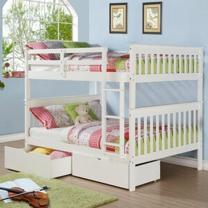 Mission Full over Full Bunk Bed with Storage by Donco Kids