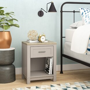 Best Lavender 1 Drawer Nightstand by Andover Mills