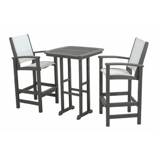 POLYWOOD® Coastal 3-Piece Bar Set