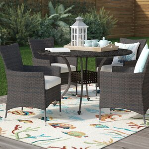 Tiarie 5 Piece Dining Set with Cushions