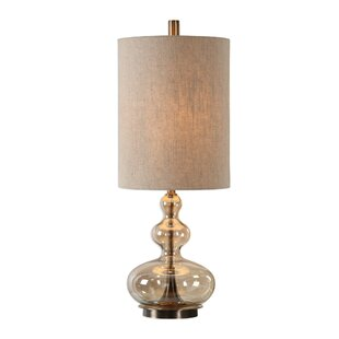 Price comparison Balboa Glass 32 Table Lamp By Ivy Bronx