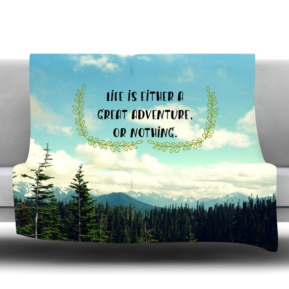 Kess InHouse Robin Dickinson Going to The Mountains Green Blue 26 x 26 Square Floor Pillow