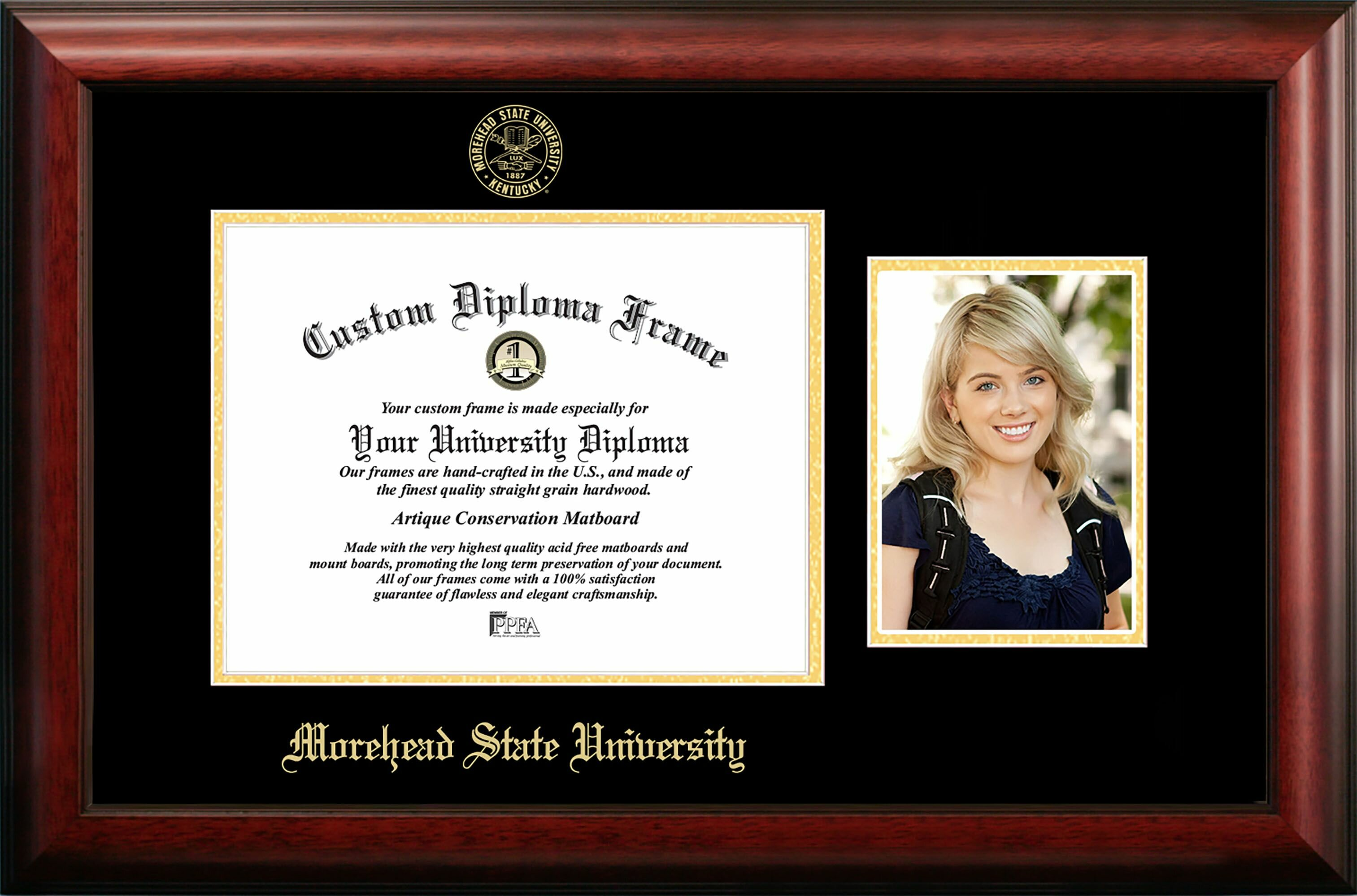 Campus Images Morehead State University Embossed Diploma Picture Frame Wayfair