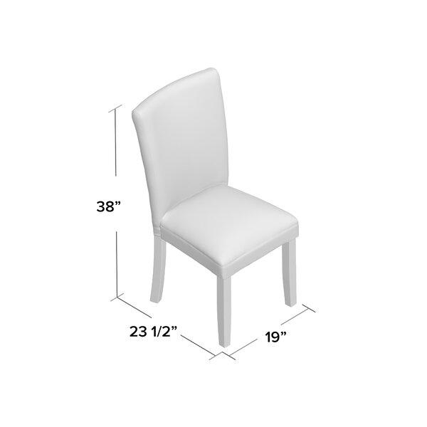 Charlton Home Azariah 19 W Polyester Blend Parsons Chair Reviews Wayfair