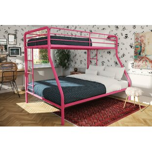 Caryl Twin over Full Bunk Bed with Mattress