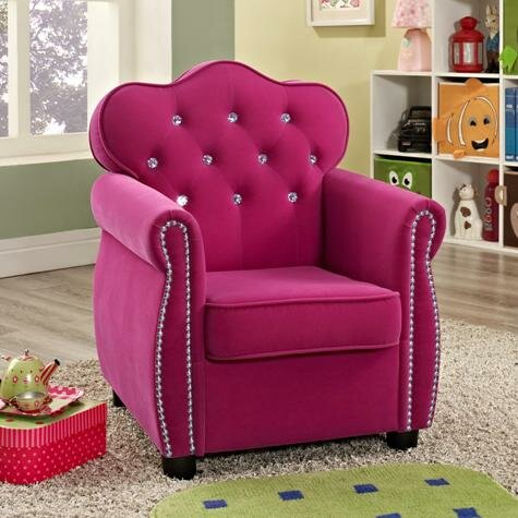 Crown Mark Amelia Kids Velvet Chair & Reviews | Wayfair