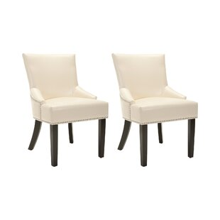 Darby Home Co York Genuine Leather Upholstered Dining Chair (Set of 2)