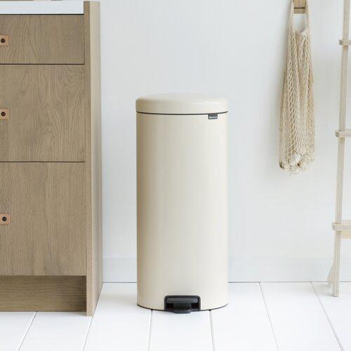 30 L Step-On Mülleimer New Icon aus Edelstahl | Küche und Esszimmer > Küchen-Zubehör > Mülleimer | Mandel | Kunststoff | Brabantia