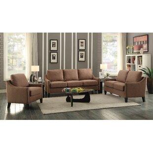 Alcott Hill Bracken 3 Piece Living Room Set