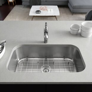 Review Stainless Steel 32 x 18 Undermount Kitchen Sink with Additional Accessories by René By Elkay