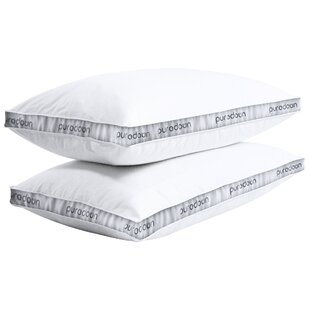 Anson Printed Gusset Medium Down and Feathers Pillow