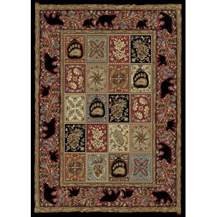 Buy luxury American Destinations Red/Black Area Rug ByMayberry Rug