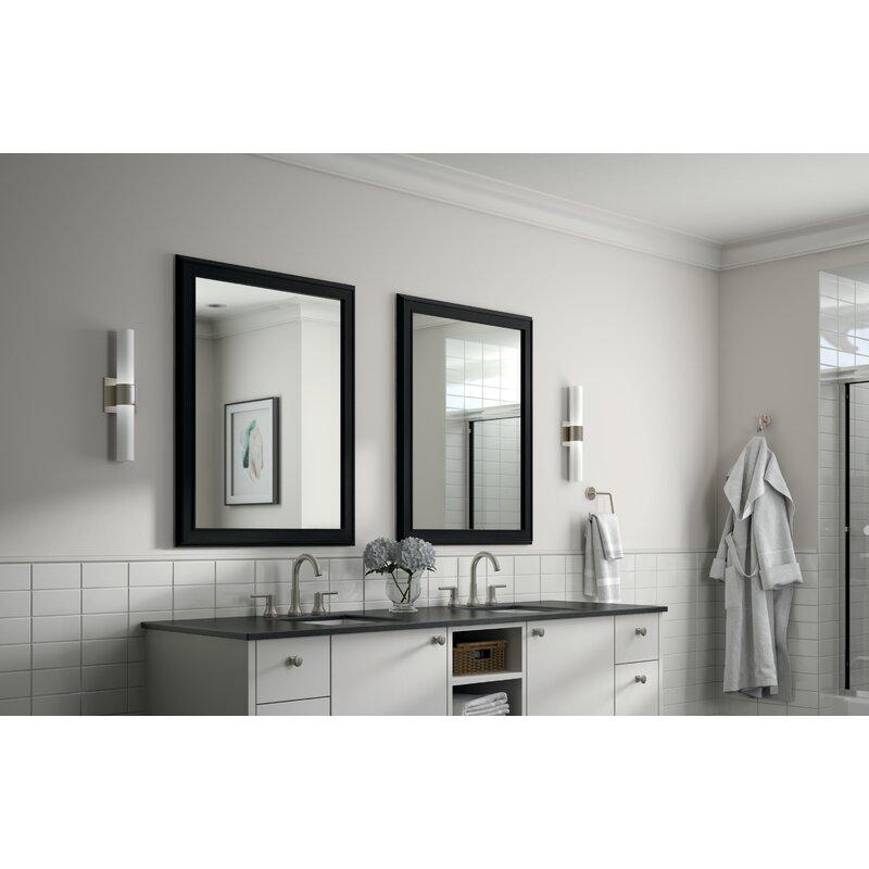 Delta Rectangular Standard Flush Mount Framed Glass Traditional Bathroom Vanity Mirror Wayfair