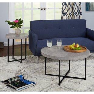 Wrought Studio Quan 2 Piece Cofee Table Set