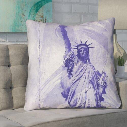 Brayden Studio Houck Contemporary Watercolor Statue Of Liberty Rectangular Lumbar Pillow Wayfair
