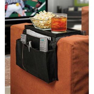6 Pocket Sofa Couch Arm Rest Organizer With Table-Top By Ideas In Motion