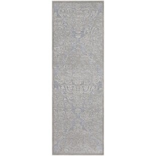Quimir Transitional Silver/Gray Area Rug byOphelia & Co.