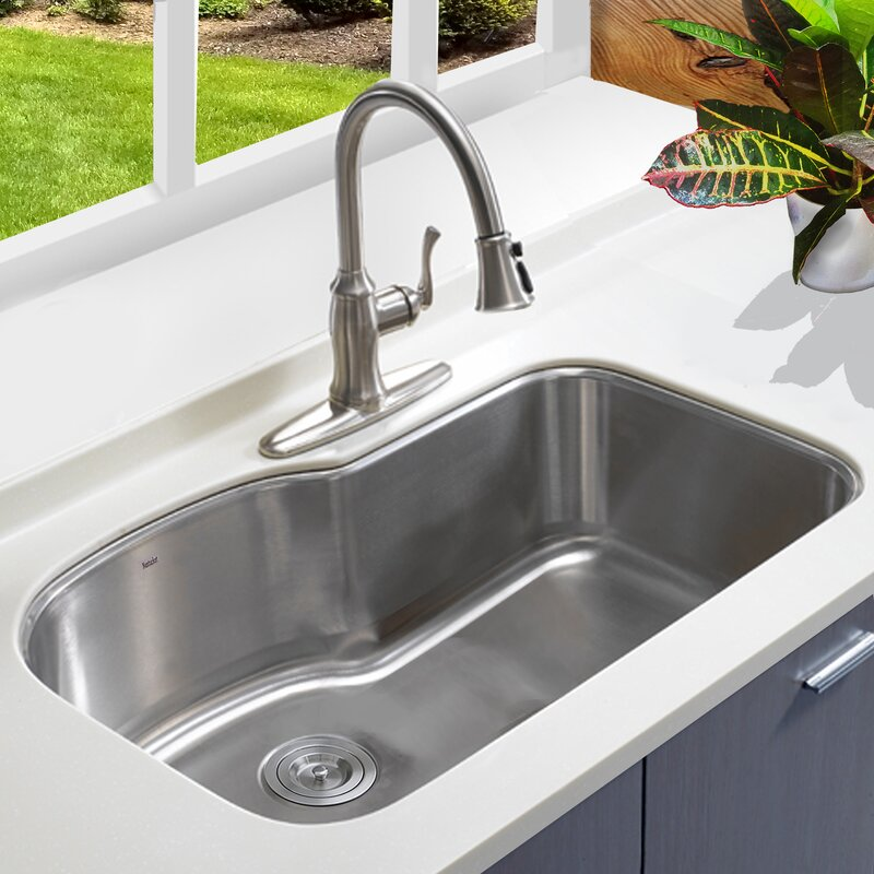 Nantucket Sinks Single Bowl Oblong Stainless Steel 31.5\