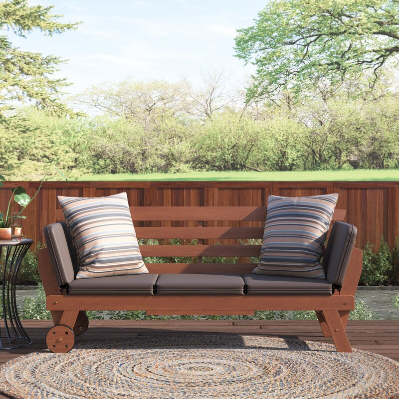 Union Rustic Emmet Patio Daybed with Cushions