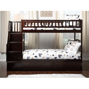 Simmons Staircase Bunk Twin over Twin Bed with Drawers by Harriet Bee