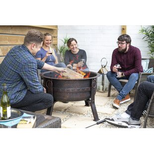 Marcos Steel Wood Burning Fire Pit By Sol 72 Outdoor