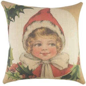 Christmas Burlap Throw Pillow
