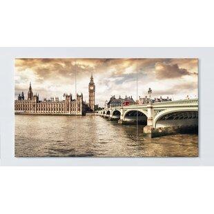 London Motif Magnetic Wall Mounted Cork Board By Ebern Designs