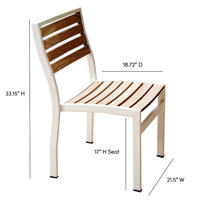 Surprising Catalina Outdoor Armless Stacking Teak Patio Dining Chair Interior Design Ideas Tzicisoteloinfo