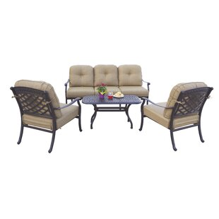 Thompson 4 Piece Sofa Set with Cushions