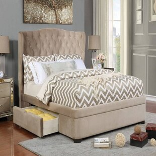 Kaori California King Tufted Upholstered Storage Platform Bed with Mattress by Canora Grey