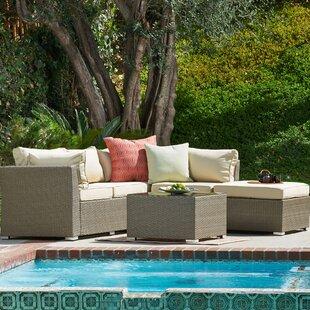 Jicaro Garden 5 Piece Sofa Set with Cushions by W Unlimited